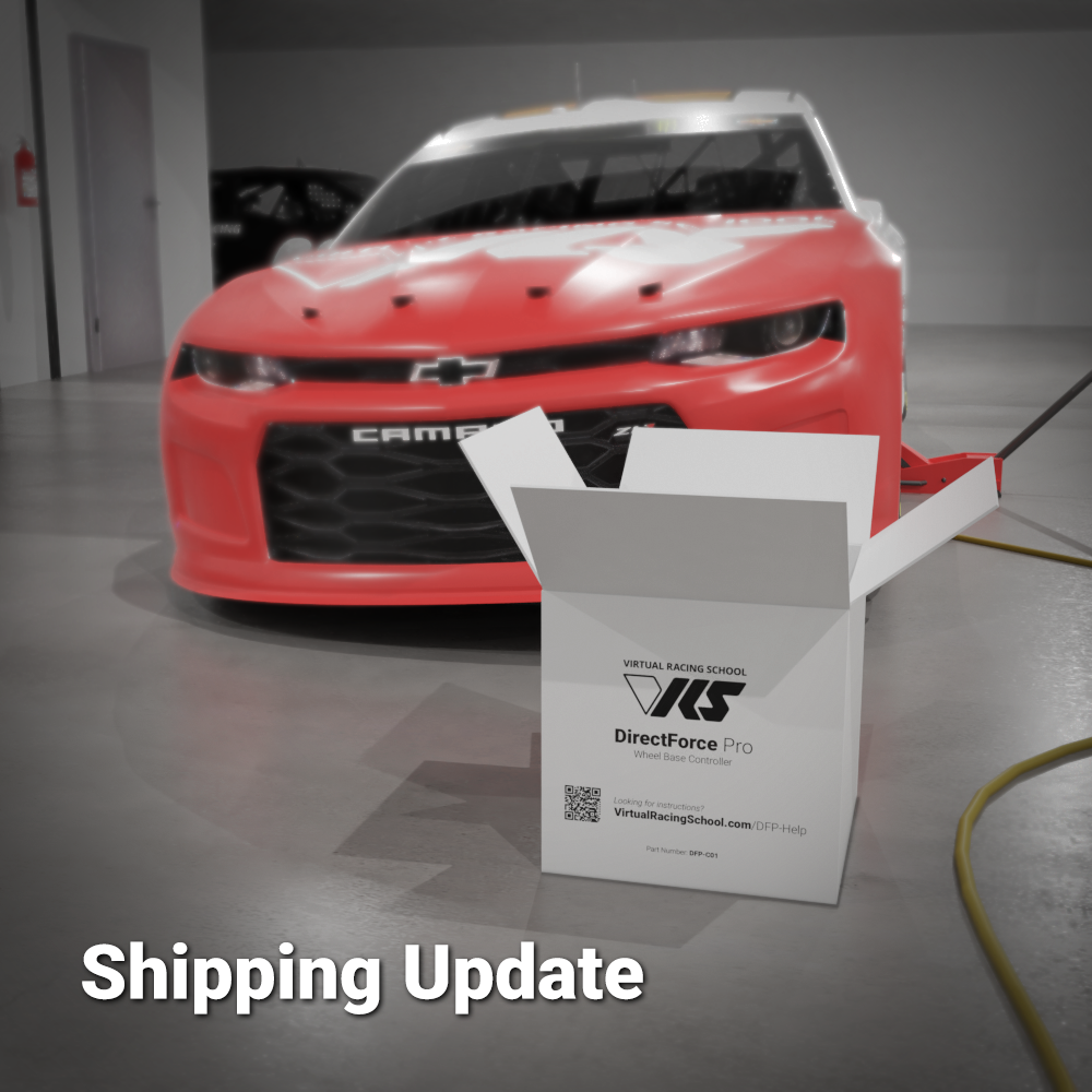 VRS DirectForce Pro Wheel Base shipping update